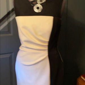 Sandra Darrin Black and White sz12 Evening Dress